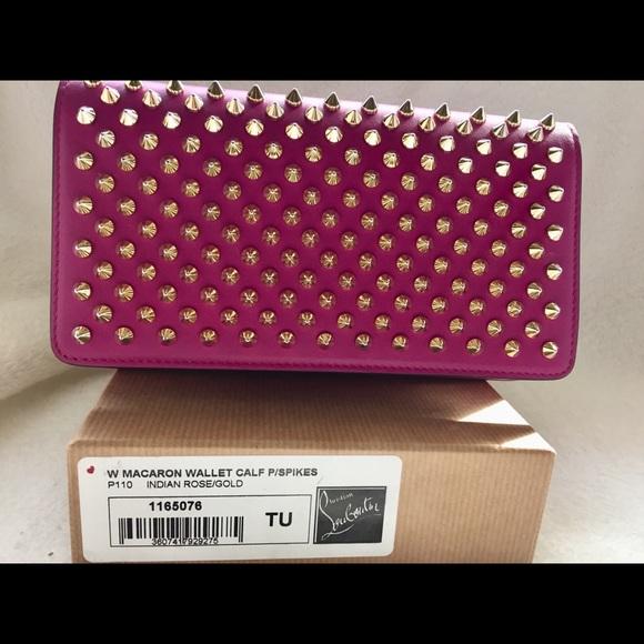 0d99f166a4b Christian Louboutin Pink Macaron Wallet/Wristlet